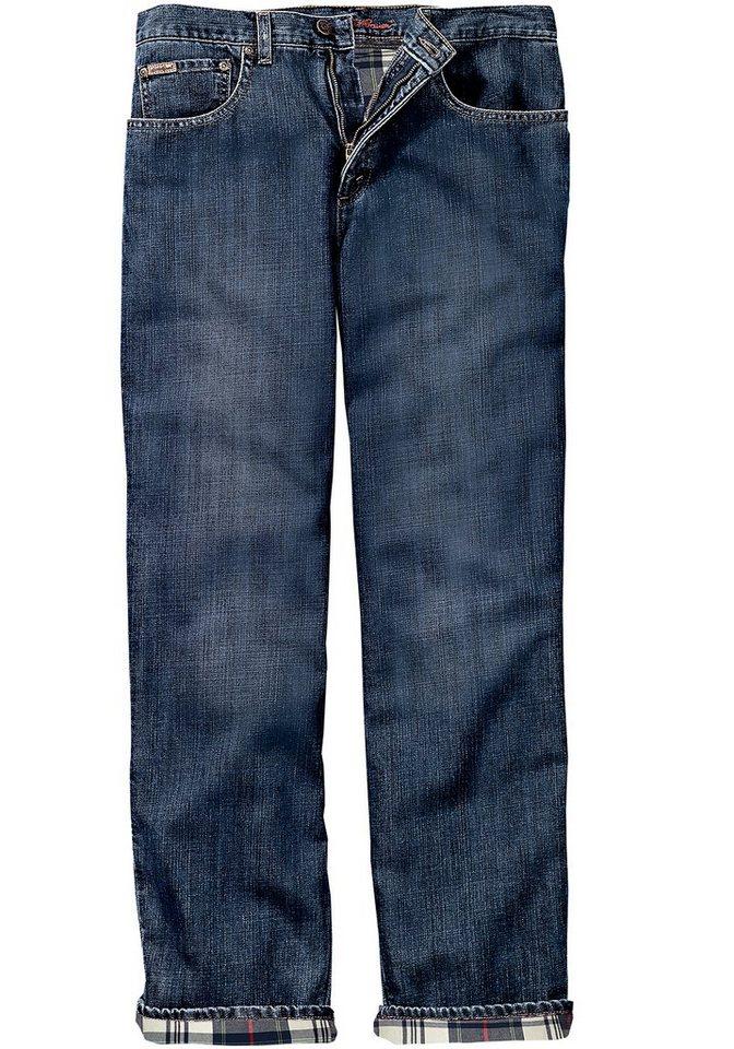 Eddie Bauer Gefütterte Relaxed Fit Jeans in Dark Denim