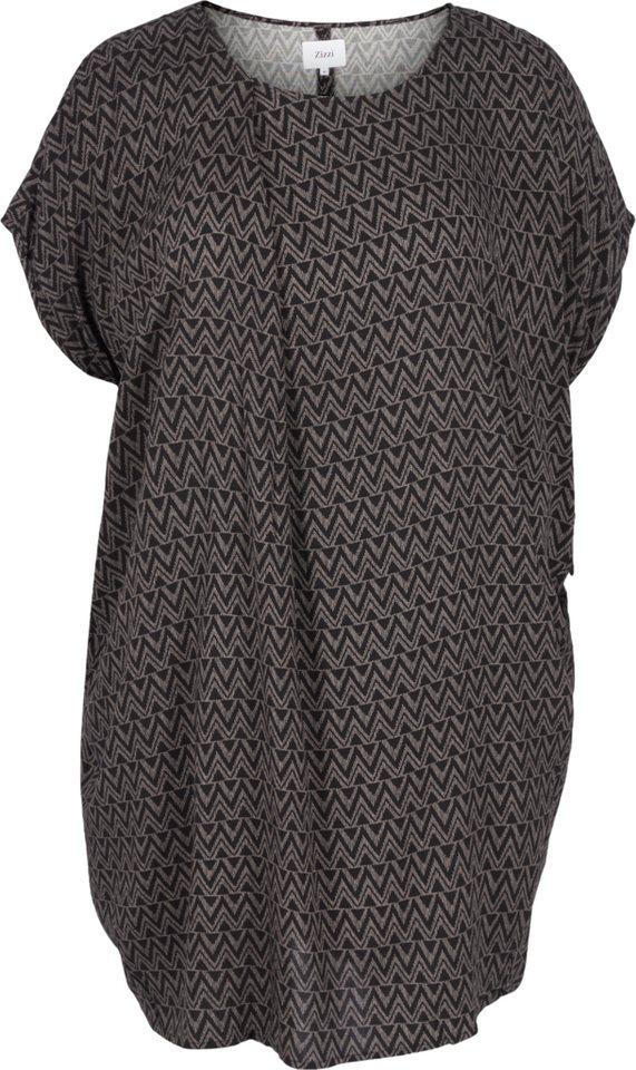 Zizzi Kleid in Black comb