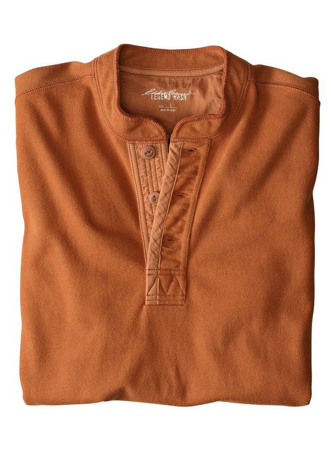 Eddie Bauer Henley-Sweatshirt in Orange
