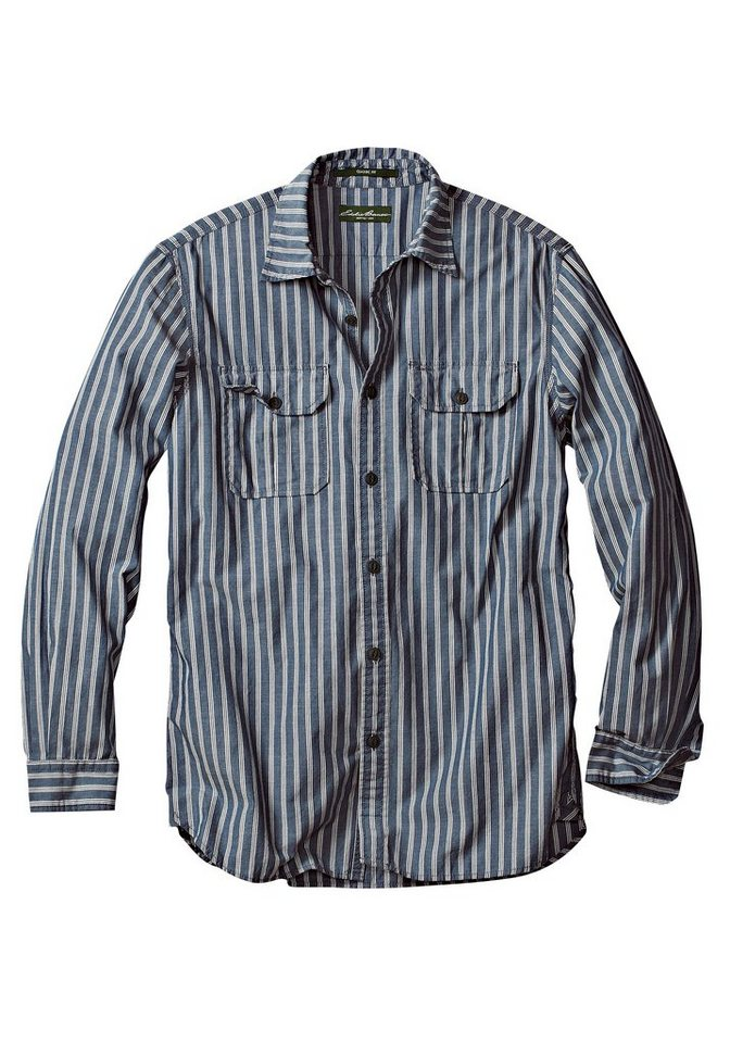 Eddie Bauer Chambray-Hemd in Blau gestreift