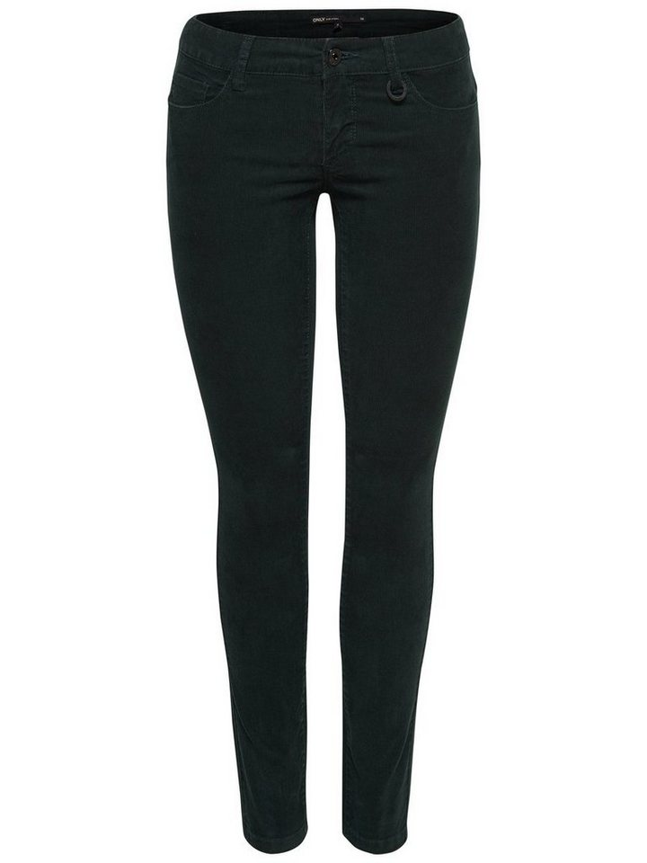 Only Carrie Low Skinny Fit Jeans in Scarab