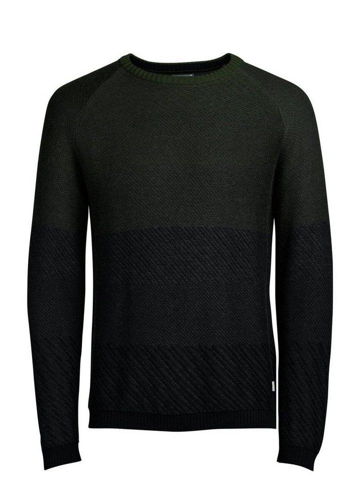 Jack & Jones Klassischer Pullover in Dark Grey Melange