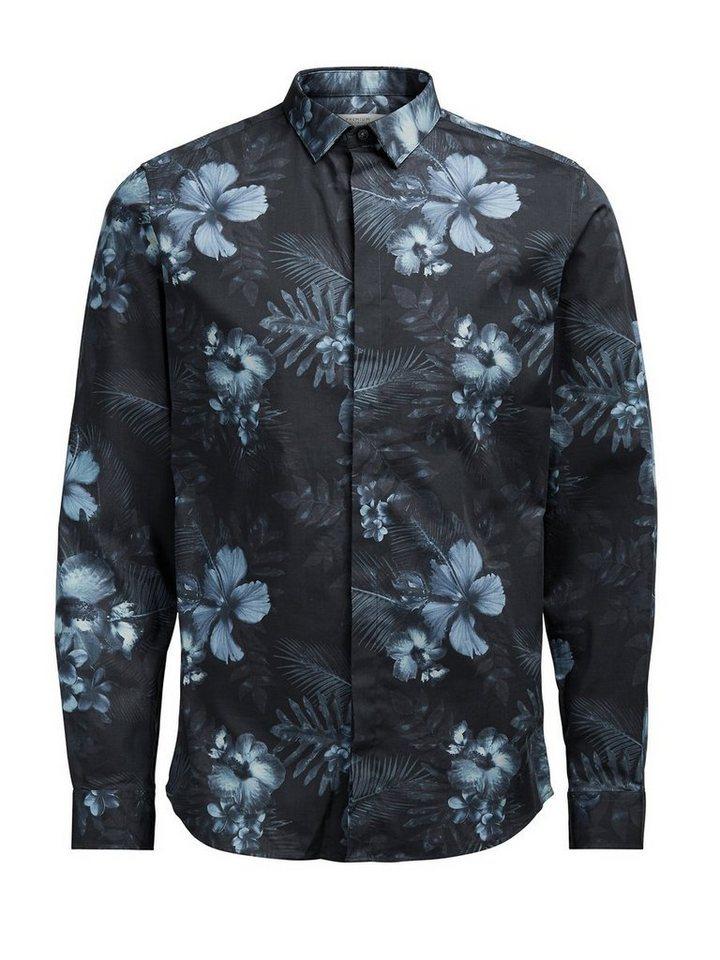Jack & Jones Blumiges Langarmhemd in Black