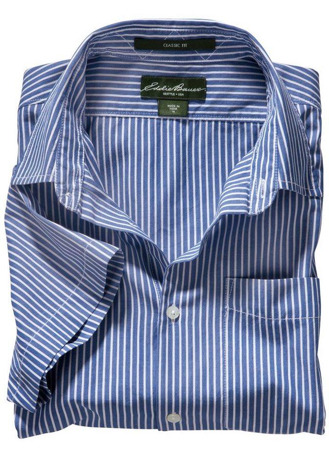 Eddie Bauer Kurzarmhemd in Blau gestreift