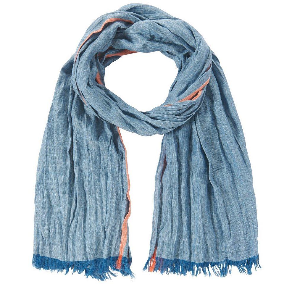 TOM TAILOR Schal »leichter Twill-Schal« in dark celeste blue
