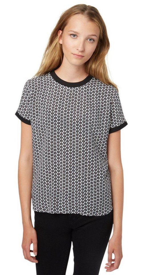 TOM TAILOR DENIM Bluse »sportive Print-Bluse« in off white