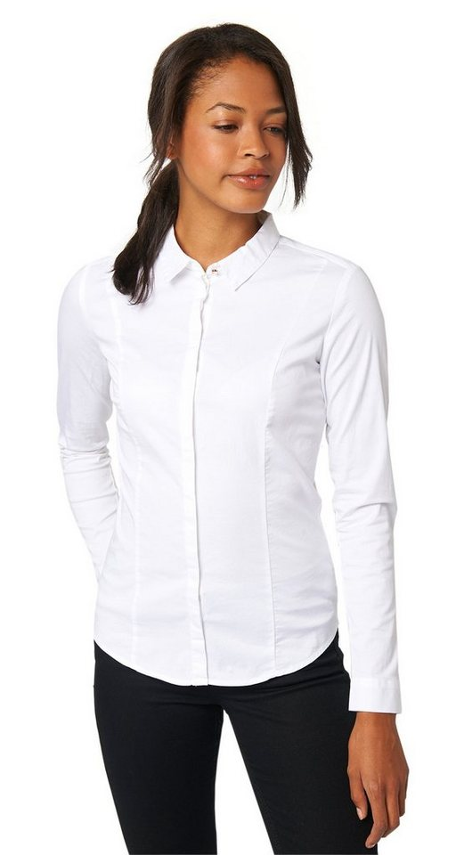 TOM TAILOR Bluse »feminine Stretch-Bluse« in white