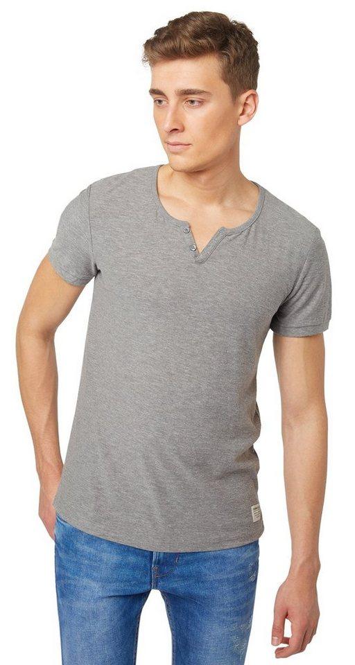TOM TAILOR DENIM T-Shirt »Serafino T-Shirt« in heather grey melange