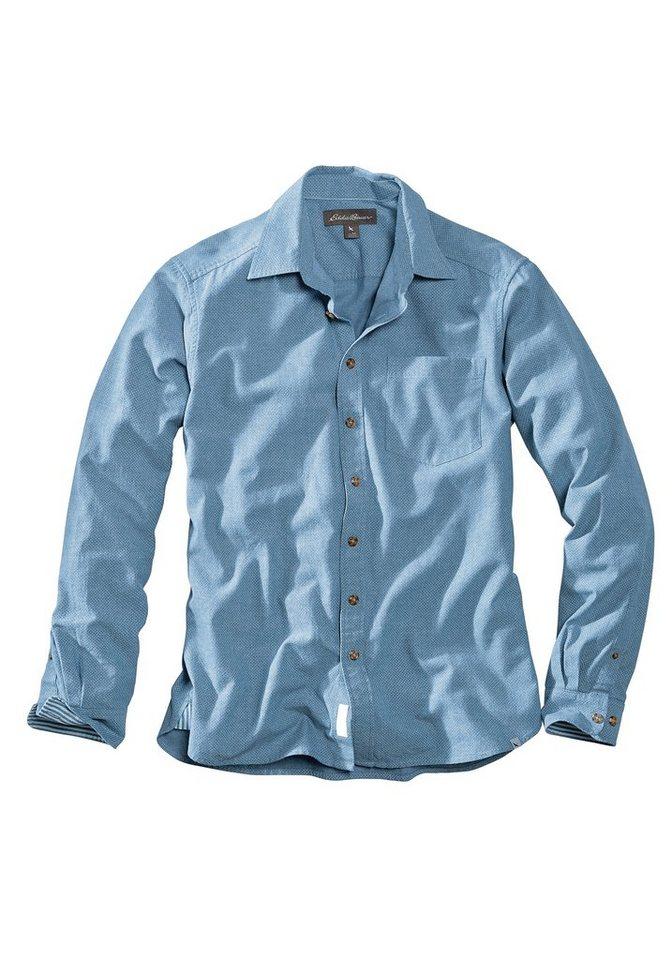 Eddie Bauer Oxfordhemd gepunktet in Hellblau