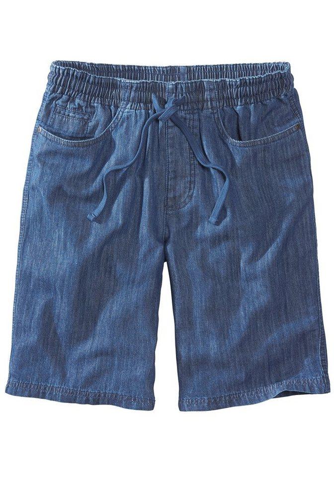Eddie Bauer Sommer-Denim-Shorts in Dark Stonewash