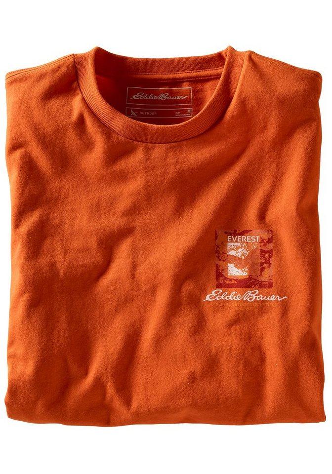 Eddie Bauer T-Shirt Everest Routes in Orange