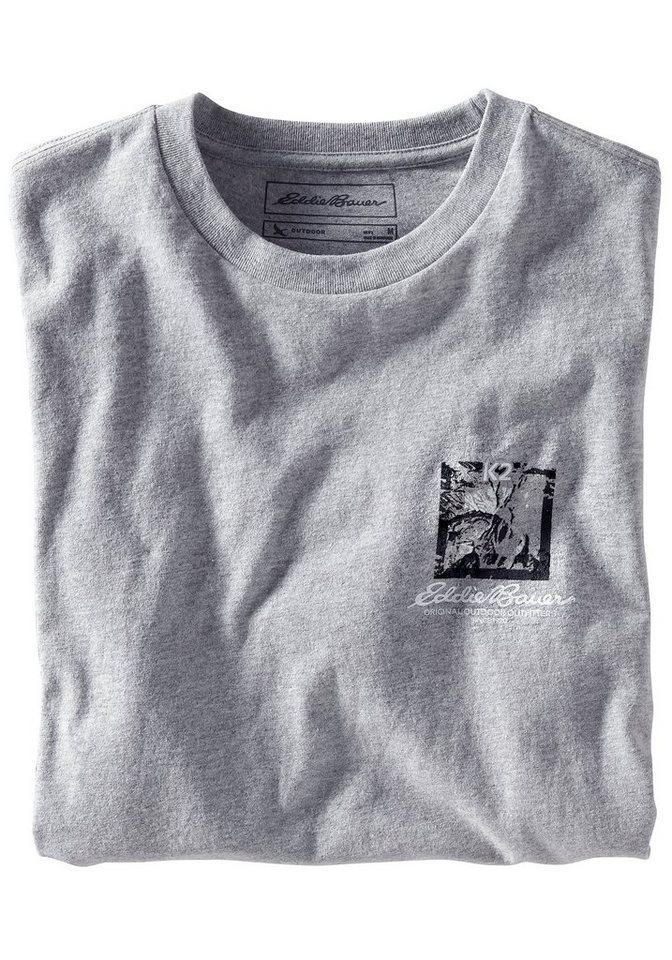 Eddie Bauer T-Shirt K2 Routes in Hellgrau