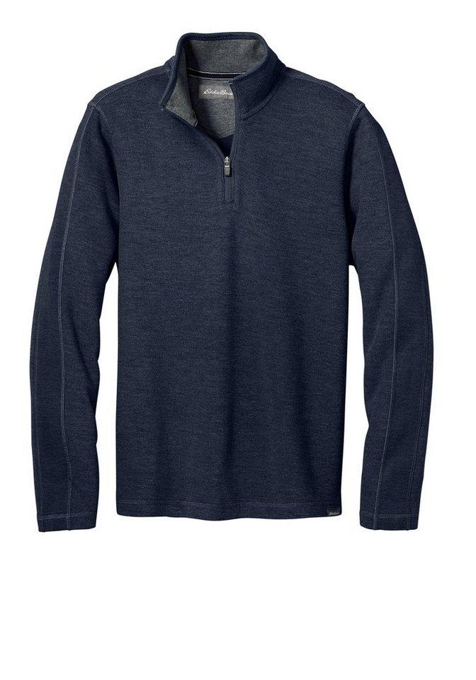 Eddie Bauer Sweater mit Reißverschluss in Navy meliert