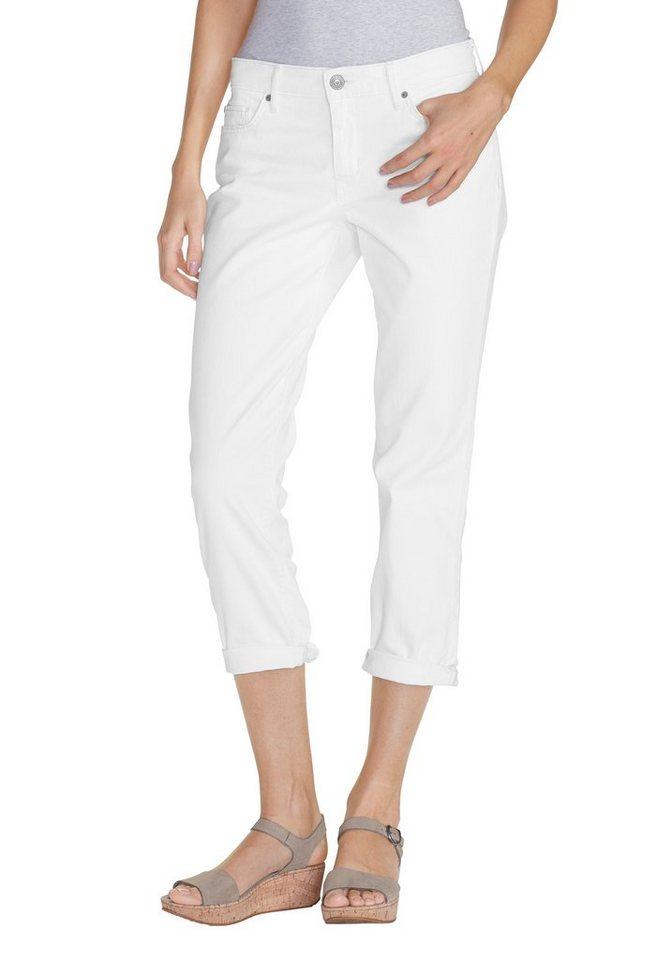 Eddie Bauer 7/8-Boyfriend Jeans in Weiß