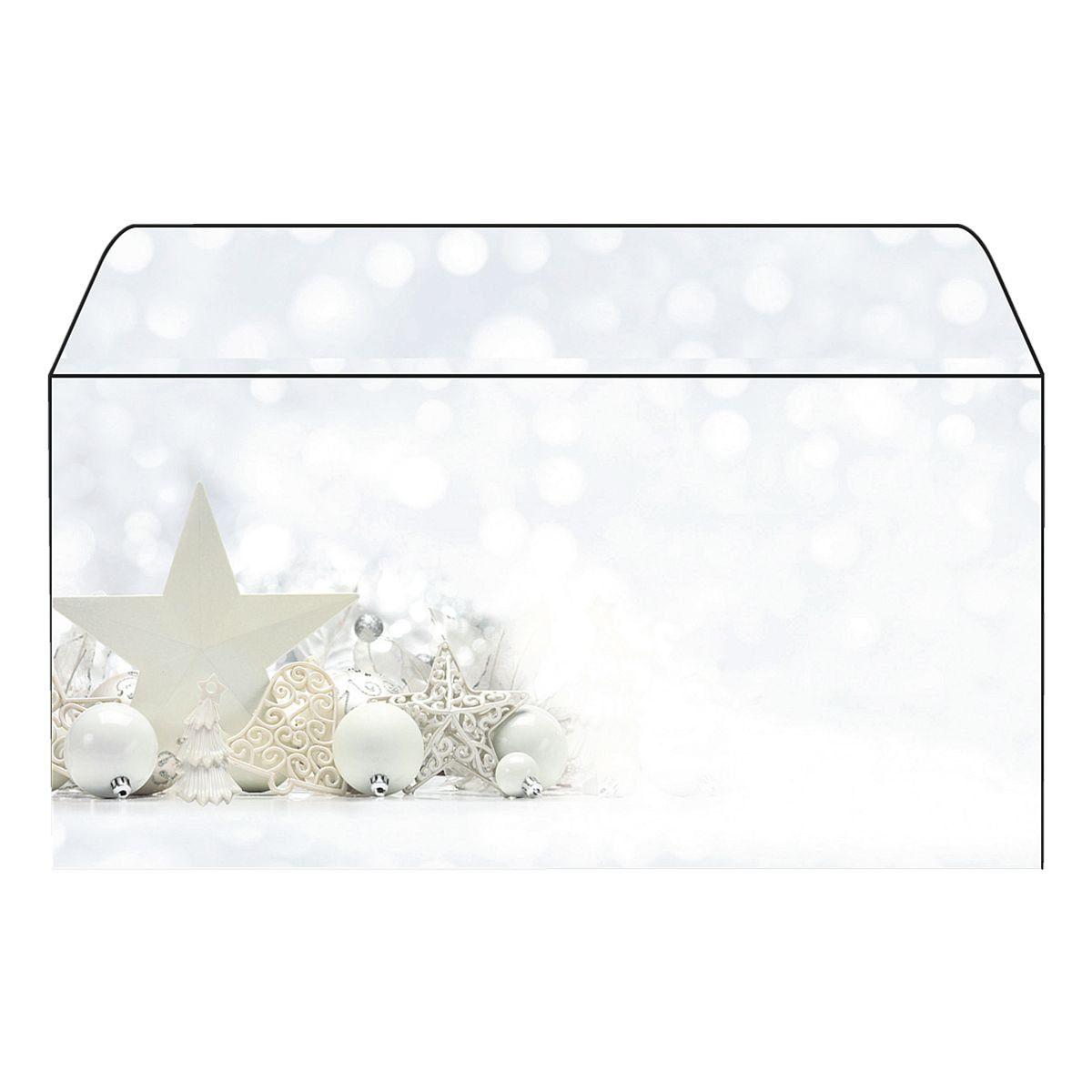 Sigel Weihnachts-Umschlag »White Stars«