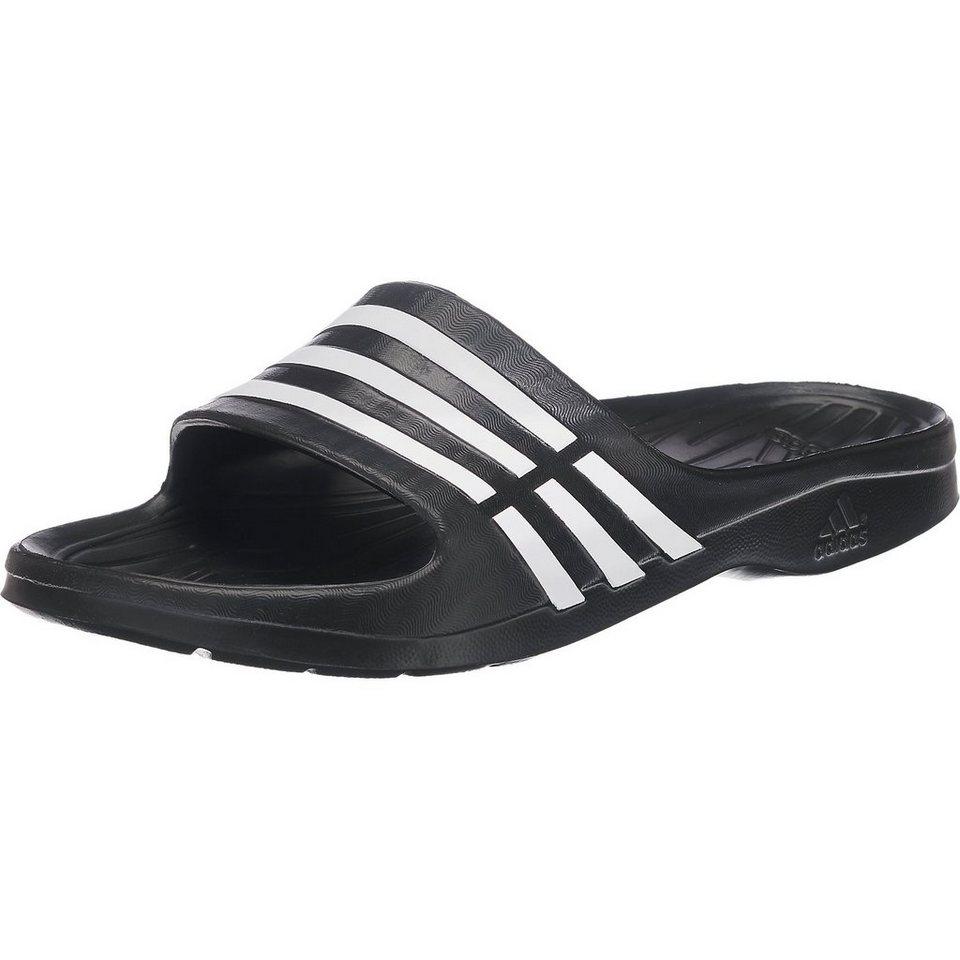 adidas Performance Duramo Sleek Pantoletten in schwarz-kombi