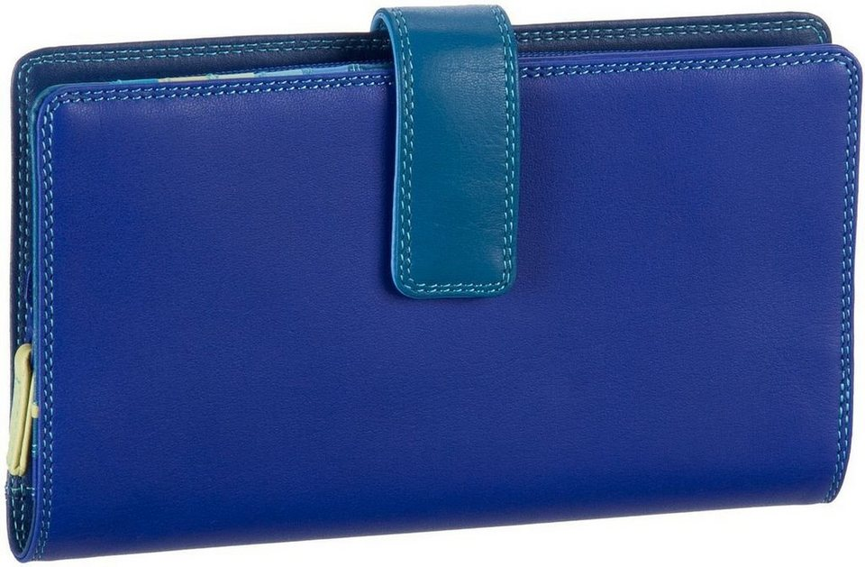 MYWALIT Large Tab Wallet with Zip Purse in Seascape