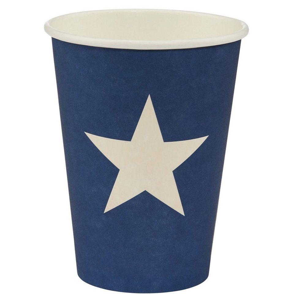 BUTLERS STARS »Pappbecher Stern« in blau-weiss