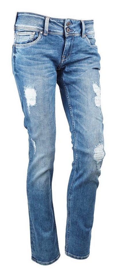 Pepe Jeans Jeans »VERA MIT Destroyed Effekten« in blau