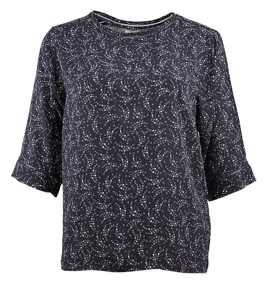 Maison Scotch T-Shirt »Relaxed fit top with ladder detail in prints & sol« in blau