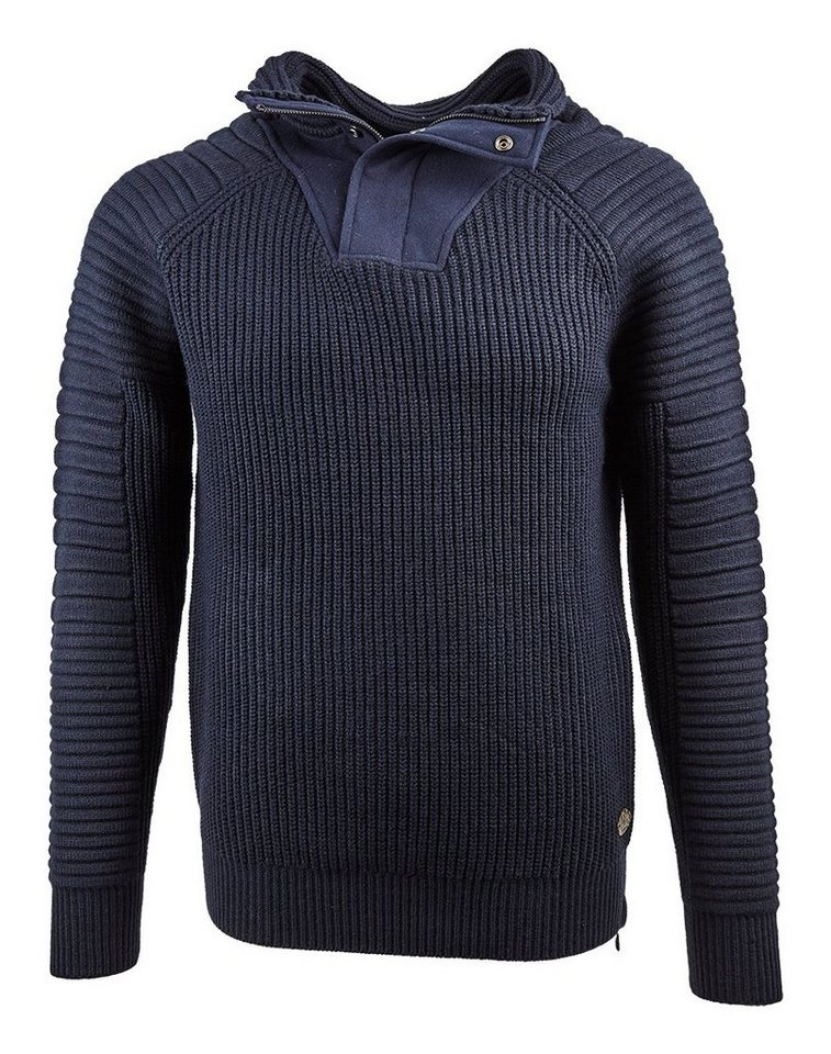 Scotch & Soda Pullover »Structured pullover with felt collar« in blau