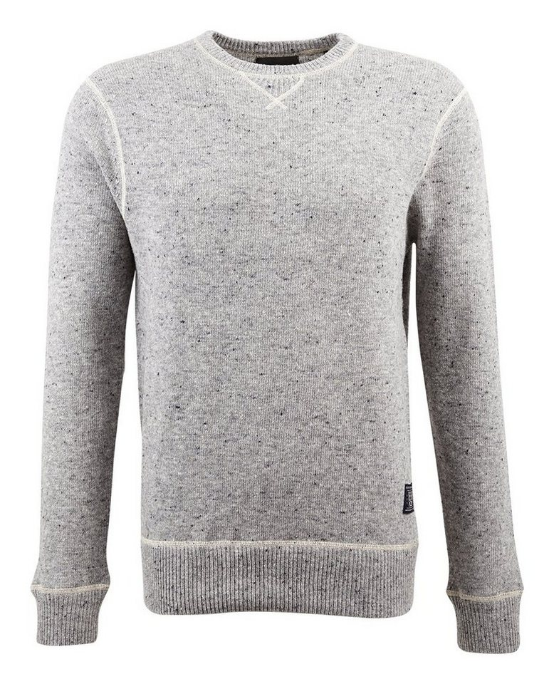 Scotch & Soda Pullover »Crewneck pullover in boiled wool quality« in grau