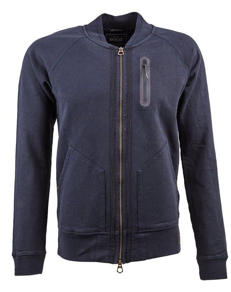 Scotch & Soda Jacke »Classic bomber sweat with zip pocket and nylon tap« in schwarz