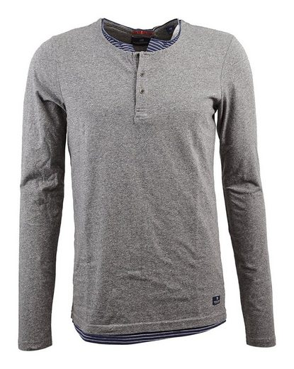 Scotch & Soda Pullover Classic longsleeve double layer granddad tee in je