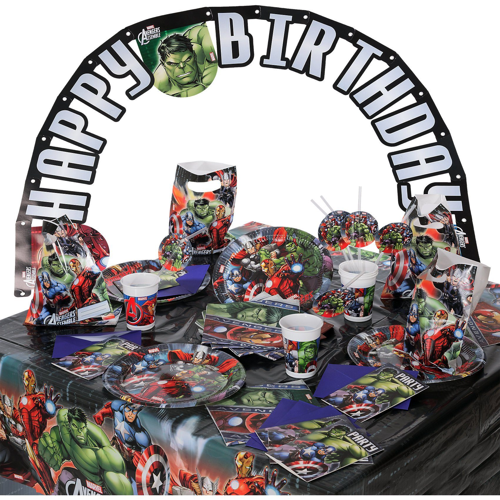 Procos Partyset Marvel Avengers Power, 56-tlg.