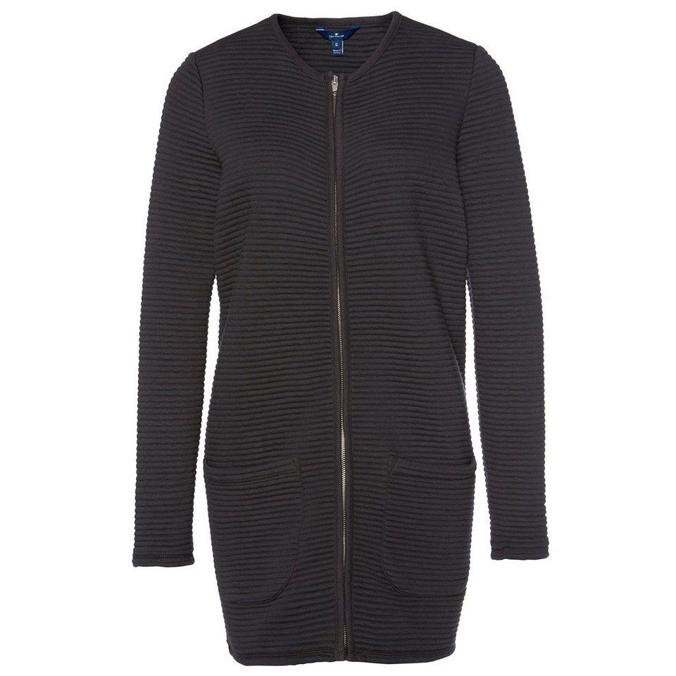 TOM TAILOR Blazer »ottoman indoor coat« in Coal Grey