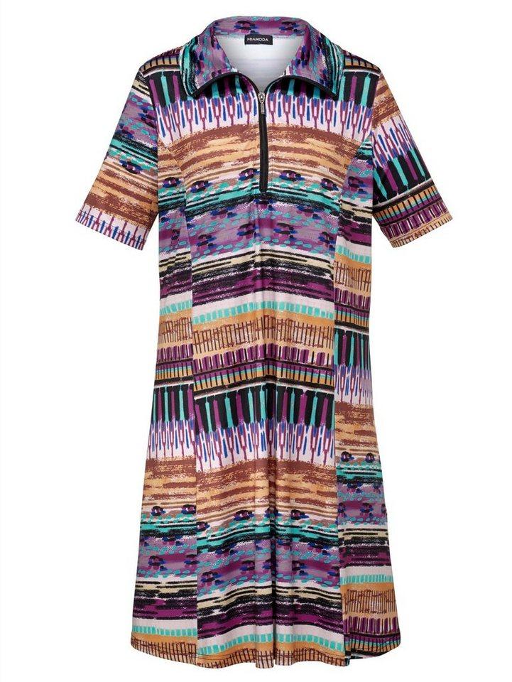 MIAMODA Jerseykleid mit modisch grafischem Druck in multicolour