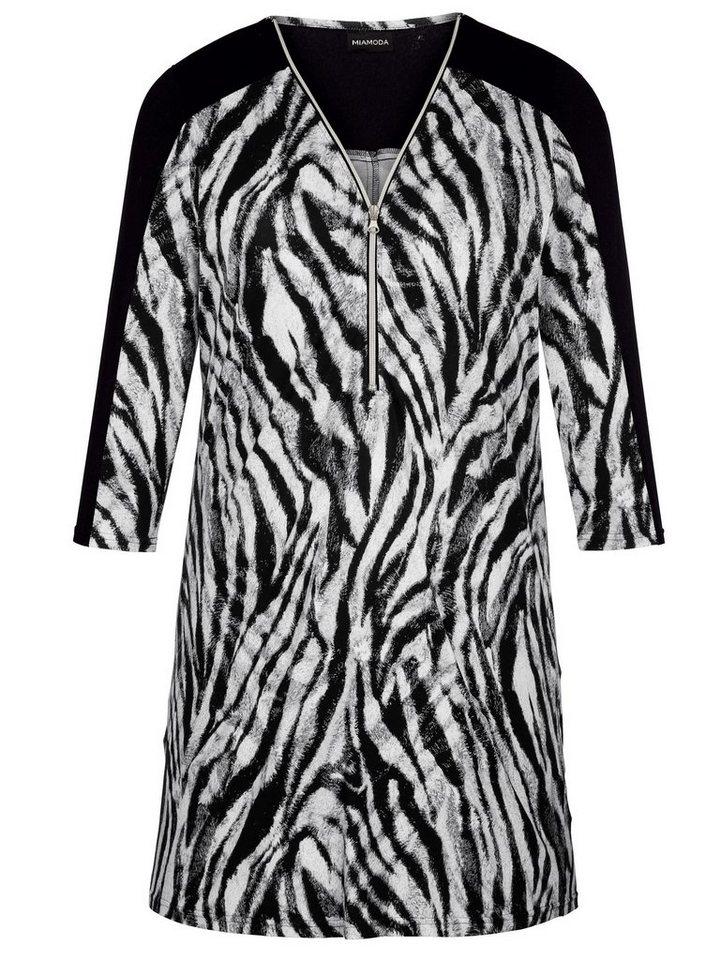 MIAMODA Shirtkleid in schwarz/weiß