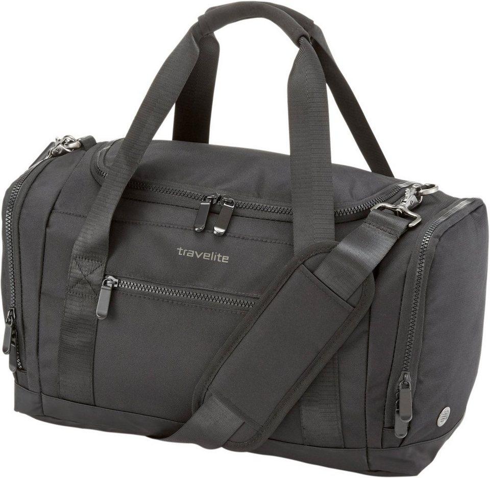 travelite Reisetasche mit abnehmbarem Schultergurt, »Flow« in schwarz