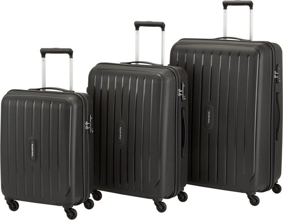 travelite Hartschalentrolley Set mit 4 Rollen (3-tlg.), »Uptown« in schwarz