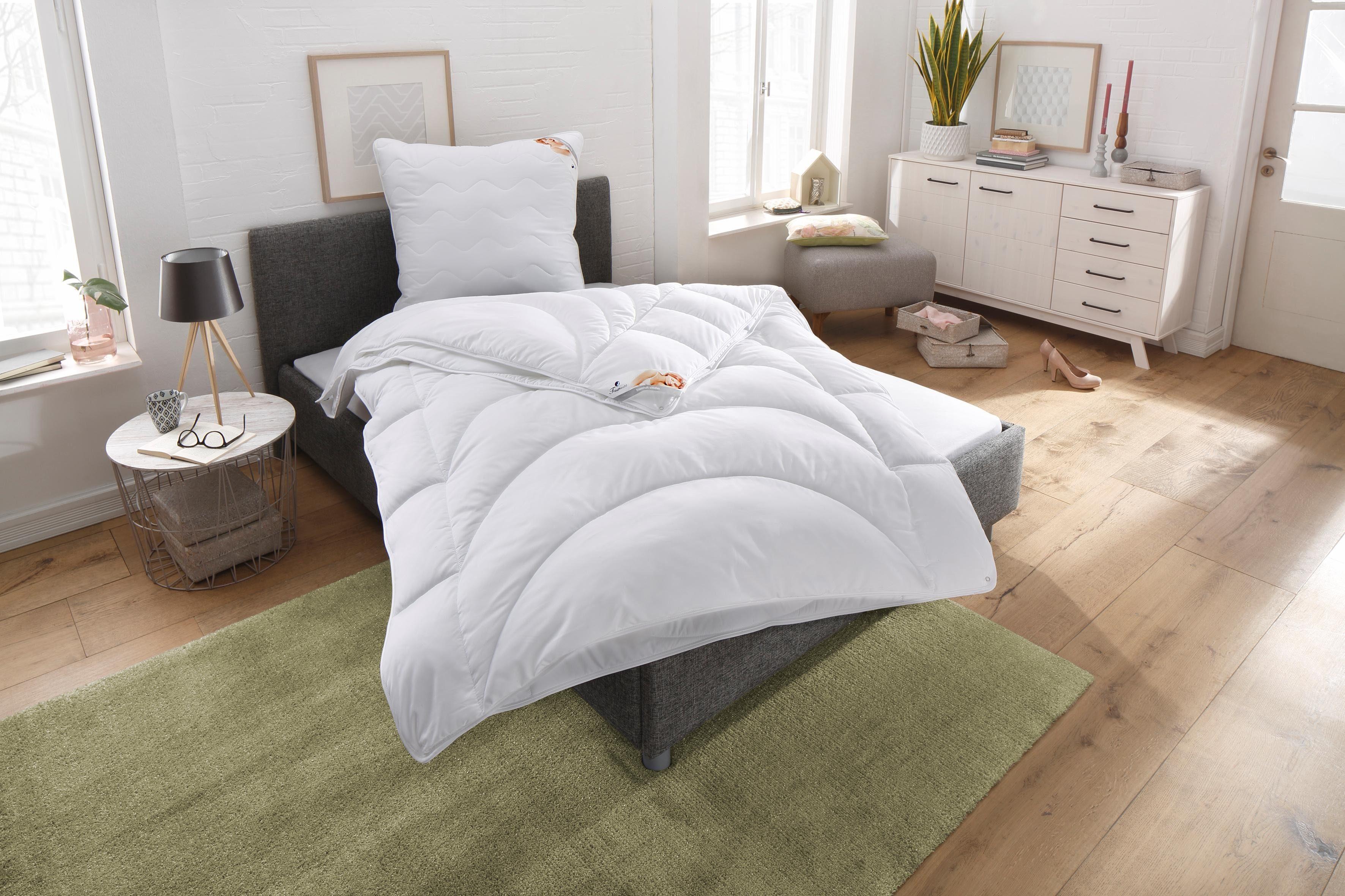 Bettdeckenset, »Microlux Baumwolle«, Traumecht, 4-Jahreszeiten, Kochfest 95°C