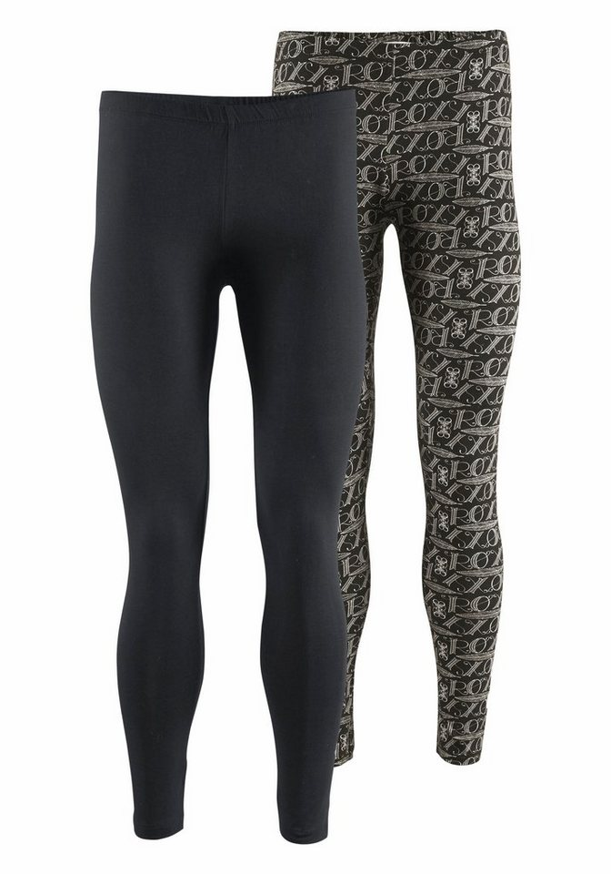 Roxy Leggings in uni-gemustert+schwarz