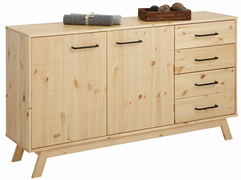 Home affaire Sideboard »New Nordic«, Breite 130 cm in natur/lackiert