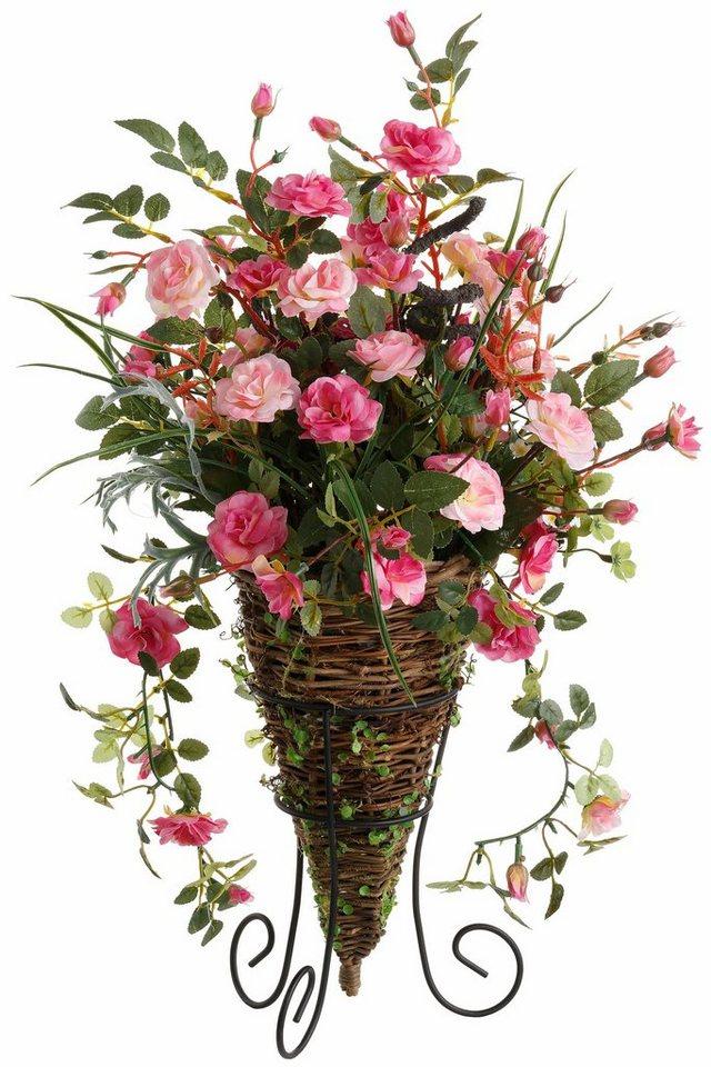Home affaire Kunstblume »Rosenarrangement« in rosa