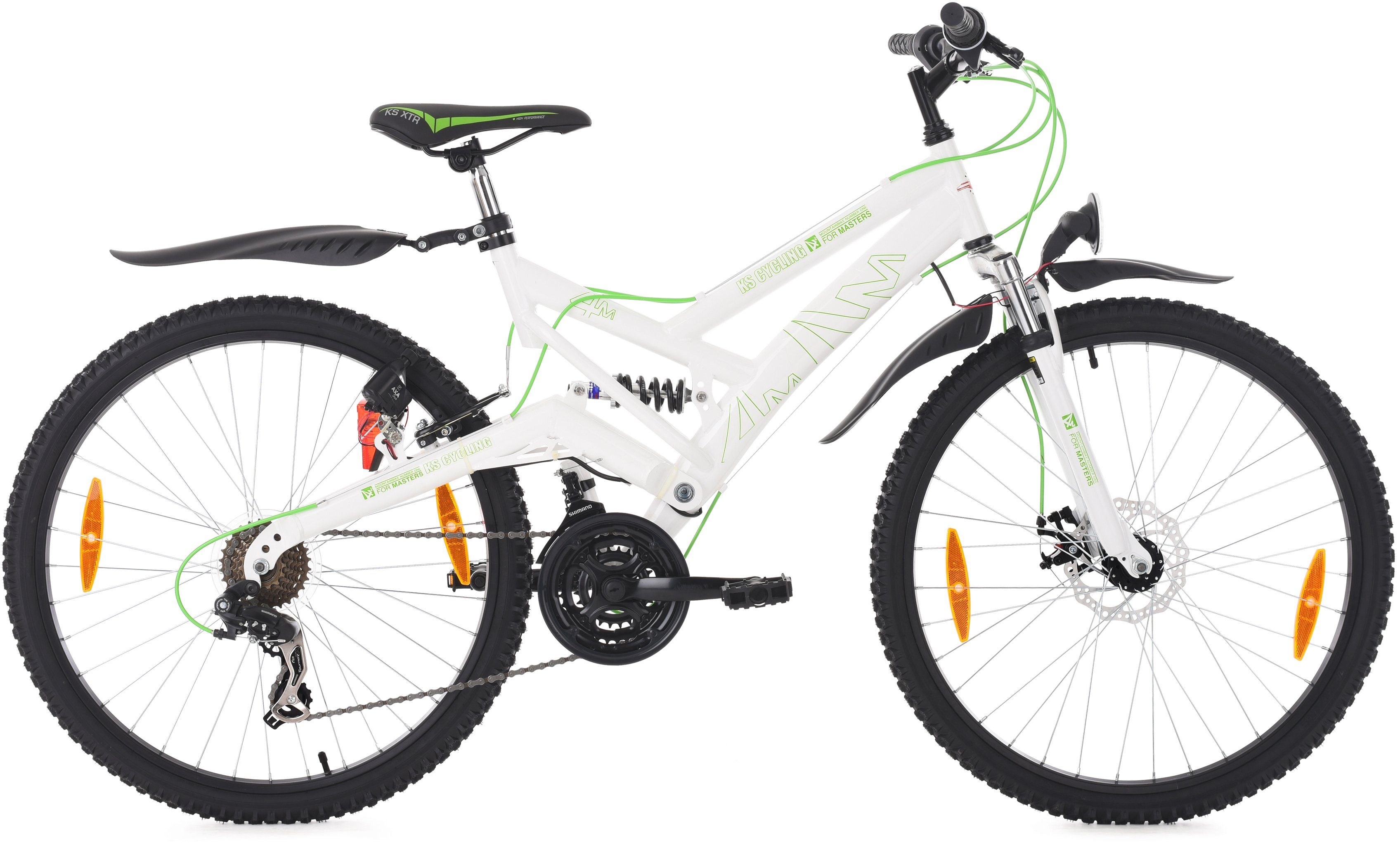 KS Cycling Fully-Mountainbike, 26 Zoll, 21 Gang Shimano Tourney Kettenschaltung, »For Masters«
