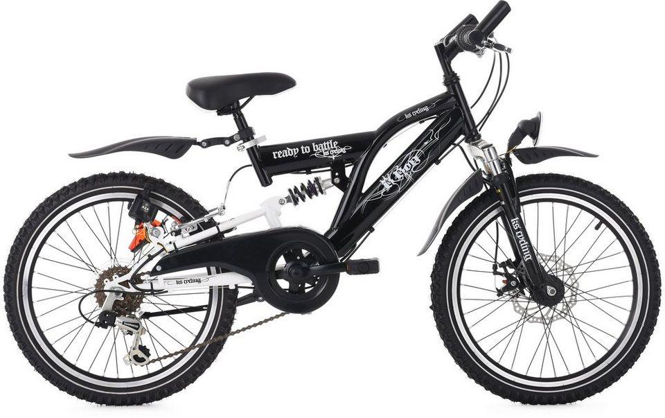 KS Cycling Jugend-Mountainbike, 20 Zoll, Shimano 6 Gang Shimano Tourney Kettenschaltung, »B-Boy« in schwarz