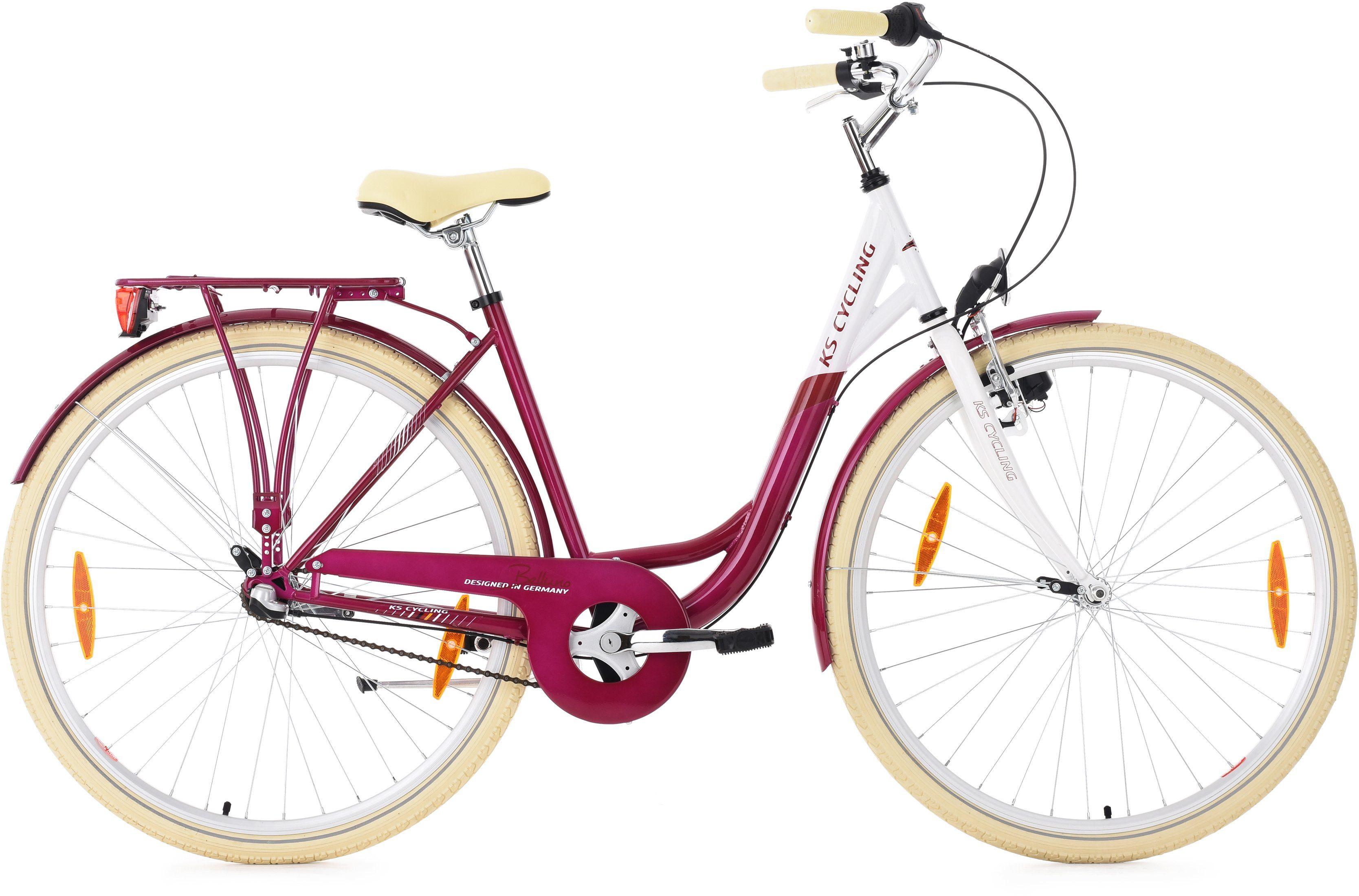 KS Cycling Damen-Cityrad, 28 Zoll, Shimano 3 Gang Shimano Nexus Nabenschaltung, »Belluno«