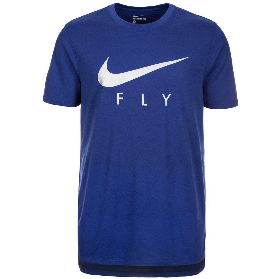 NIKE Fly Droptail T-Shirt Herren in blau / silber