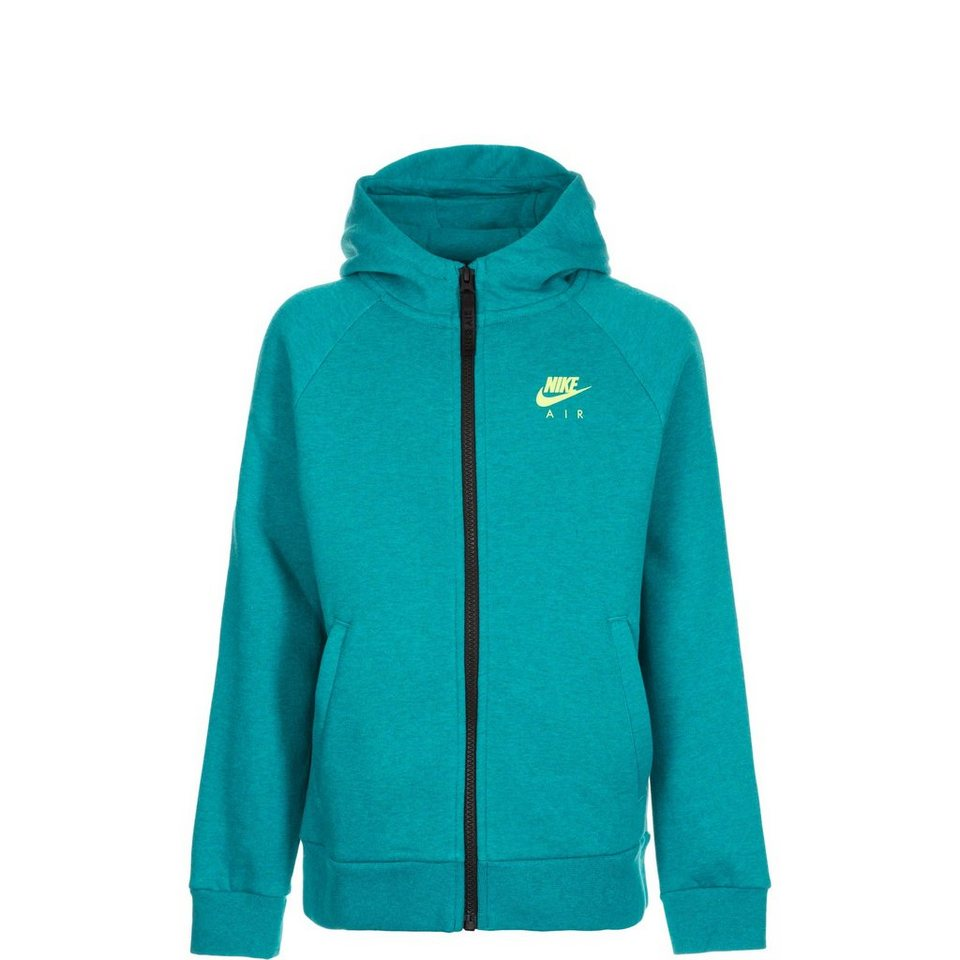 NIKE Air Trainingskapuzenjacke Kinder in türkis / schwarz
