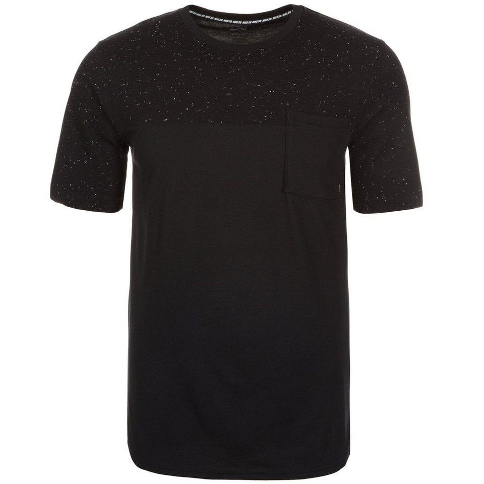 NIKE Dri-FIT Nepps T-Shirt Herren in schwarz / weiß