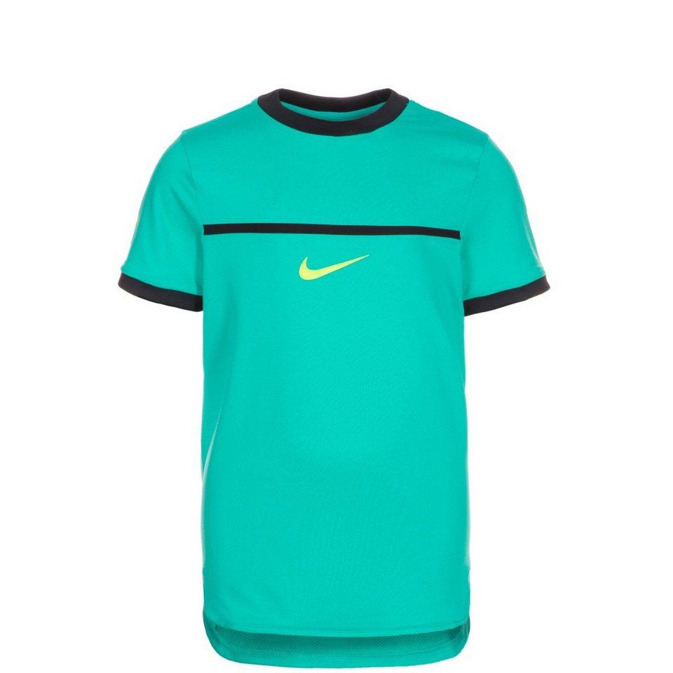 NIKE Rafa Challenger Tennisshirt Kinder in grün / schwarz