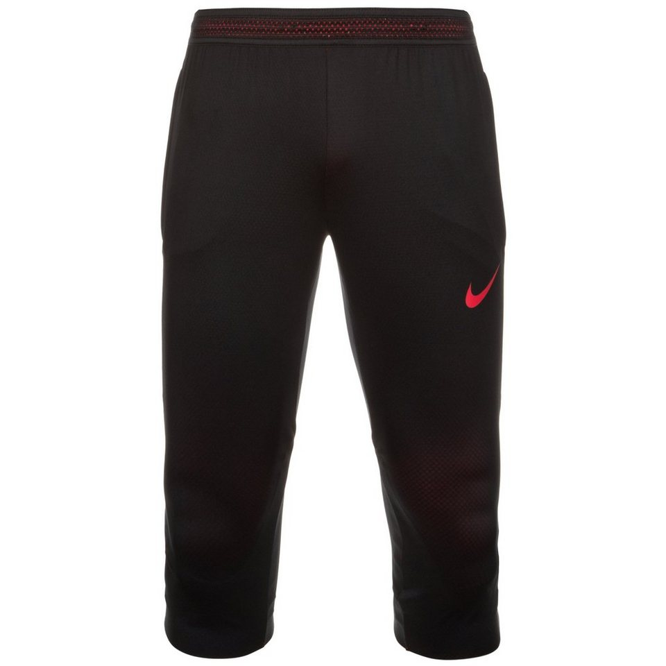 NIKE Dry Strike 3/4 Trainingshose Herren in schwarz / rot