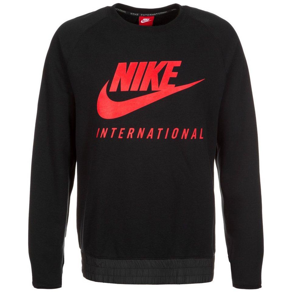 Nike Sportswear International Crew Sweatshirt Herren in schwarz / rot