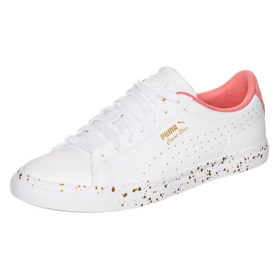 PUMA Court Star Vulc Remast Sneaker Damen in weiß / rosa / gold