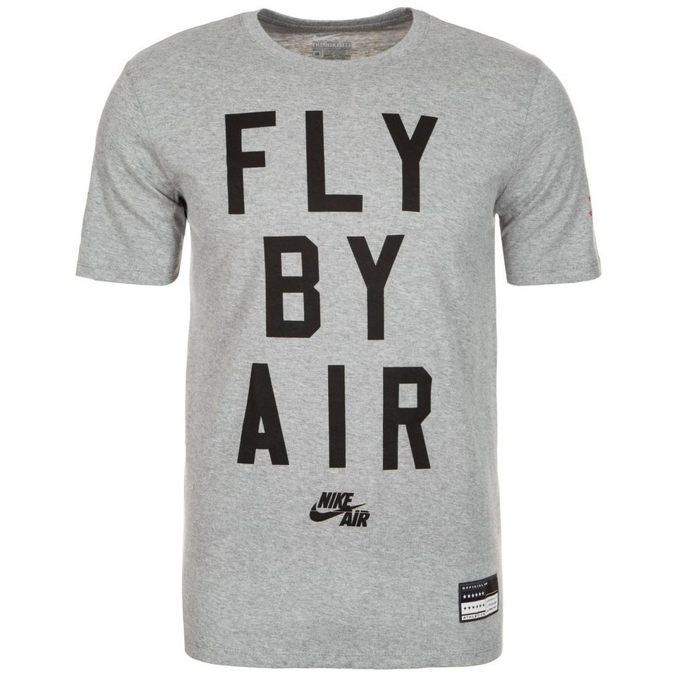 Nike Sportswear Air Fly By T-Shirt Herren in grau / schwarz / rot