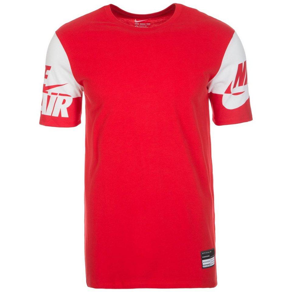 Nike Sportswear Air Sleeves T-Shirt Herren in rot / weiß